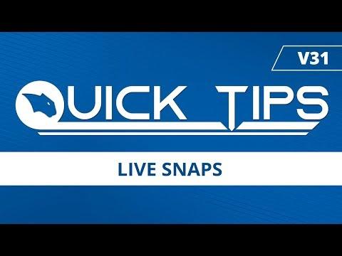 Live Snaps - BobCAD-CAM Quick Tips: V31