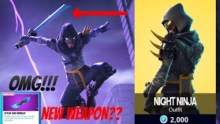 NEW NIGHT NINJA SKIN IN FORTNITE?! NEW DRIFTBOARD IS SO COOL!