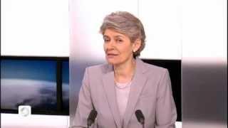Irina Bokova (Unesco) sur le plateau de TV5Monde (09/02/13)