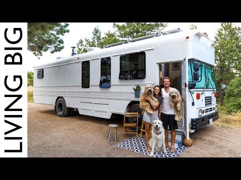 Epic Off-The-Grid School Bus Conversion