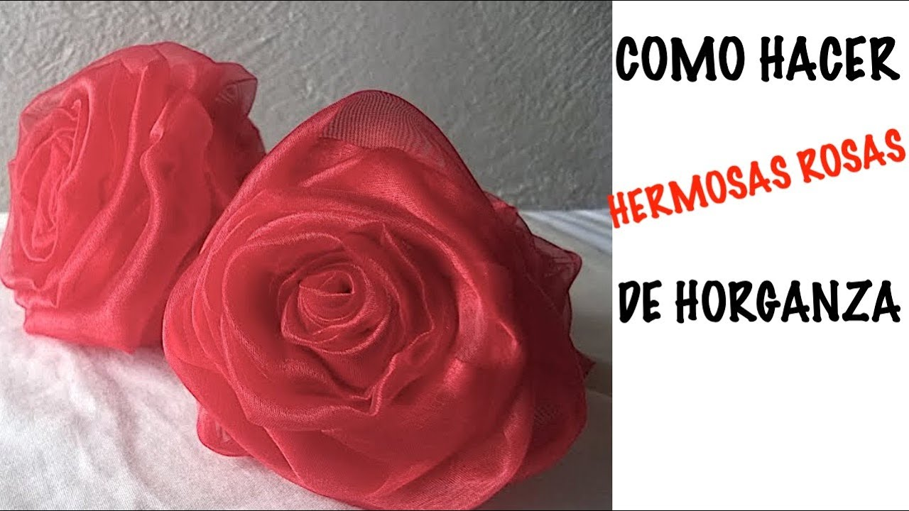 Como hacer rosas organza doovi - Como hacer flores ...