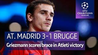 Atletico Madrid vs Club Brugge (3-1) UEFA Champions League Highlights