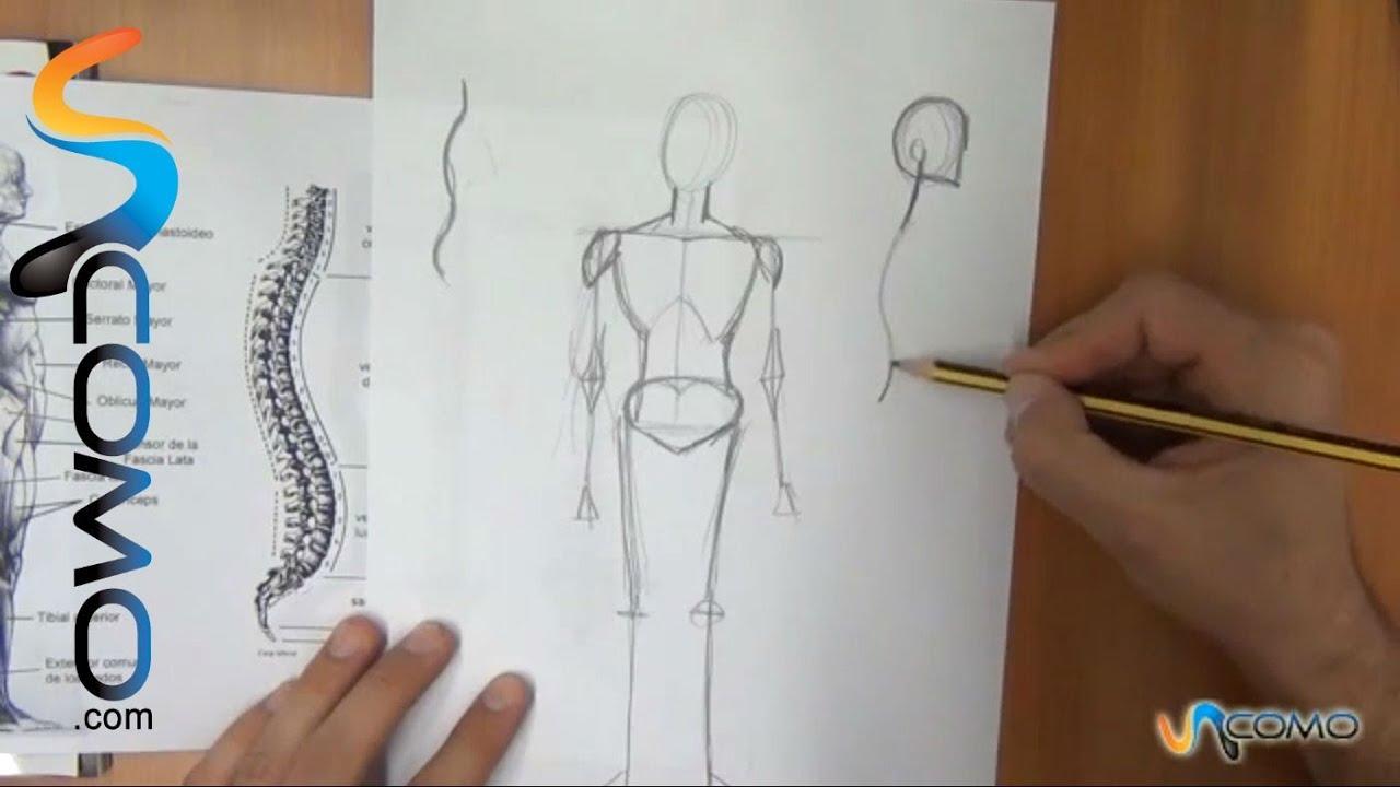 Dibujar distintas posturas del cuerpo humano (3º parte) - YouTube