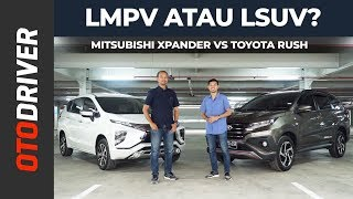 Mitsubishi Xpander VS Toyota Rush 2019 Review Indonesia | OtoDriver
