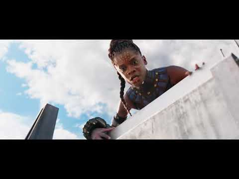 BLACK PANTHER - Exclusive Clip .  Hyperloop Fight Wakanda Forever