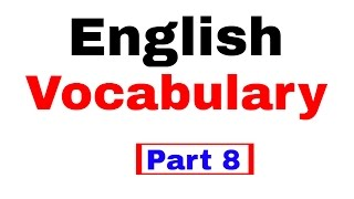 English Vocabulary for Bank po and SSC CGL  [In Hindi] Part 8