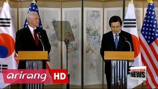 U.S. Vice President warns N. Korea not to test Trump's resolveto test Trump's resolve