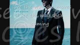 I love The Way She Moves---Akon & Zion (lyrics) HQ.mp4