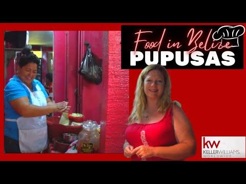 Food in Belize - ( Pupusas ) at the Pupuseria en San Pedro