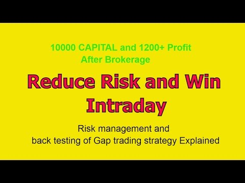 How to Decrease Risk and Win in Intraday Trading With Single Strategy