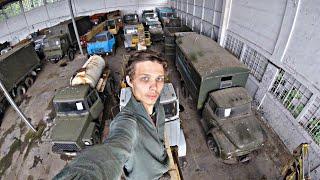 ВЗЛОМАЛИ РЕШЕТКУ и пробрались на склад старых автомобилей | Десятки едениц техники