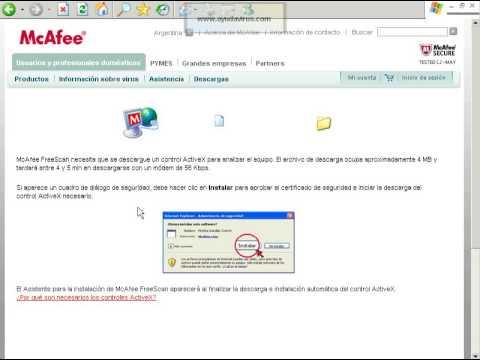 Antivirus Online McAfee FreeScan
