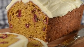 Pumpkin Cranberry Bread Recipe Demonstration - Joyofbaking.com
