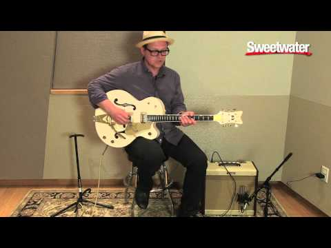 Gretsch White Falcon Hollowbody Electric Guitar Demo by Paul Pigat - Sweetwater Sound