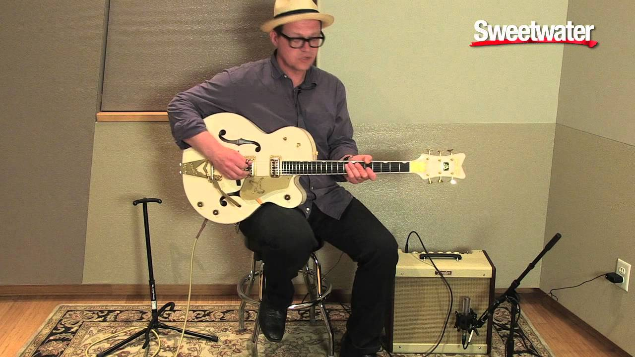 gretsch white falcon hollowbody electric guitar demo by paul pigat sweetwater sound youtube. Black Bedroom Furniture Sets. Home Design Ideas