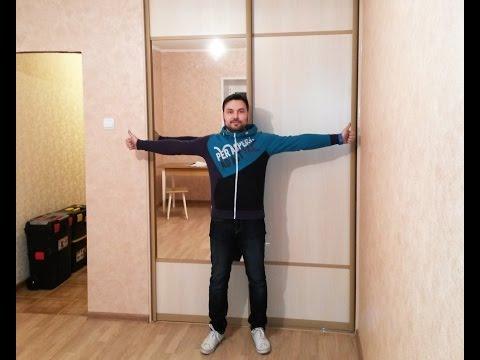 Шкаф-купе встроенный в гостиную