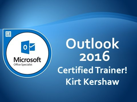 Microsoft Outlook 2016 Tutorial for Beginners – How to Use Outlook Part 2 thumbnail