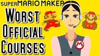 Super Mario Maker TOP 3 WORST Official Courses (Wii U)