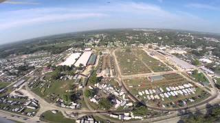 Aerial view of Midwest Old Threshers during Reunion in Iowa
