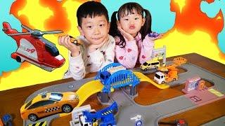 라임의 월드카 시티 119 구조대 슈팅 자동차 장난감 놀이 LimeTube & Toy 라임튜브