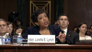 Graham Questions Attorney General Loretta Lynch During Judiciary Committee Hearing