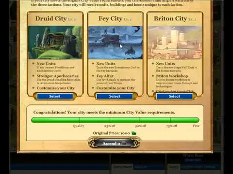 How to set up and assend your city in Kingdoms Of Camelot