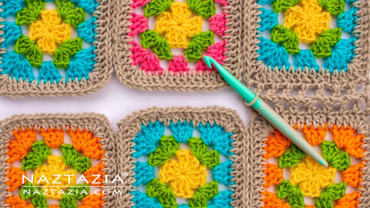 How To Join Granny Squares In Crochet 5 Different Ways Of Connecting By Naztazia Youtube