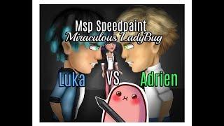 MSP Speedpaint Miraculous LadyBug Luka VS Adrien