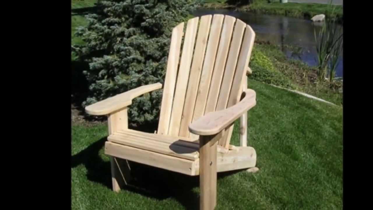 Adirondack Cedar Chairs cedar adirondack chairs - youtube