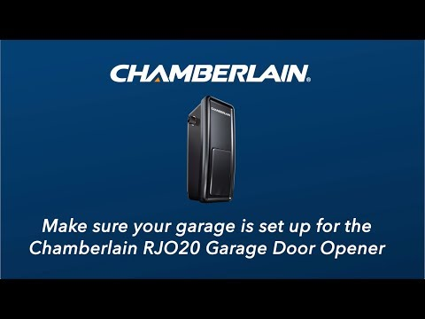 How To Check That Your Garage Is Set Up For The Chamberlain Rjo20 Garage Door Opener Youtube