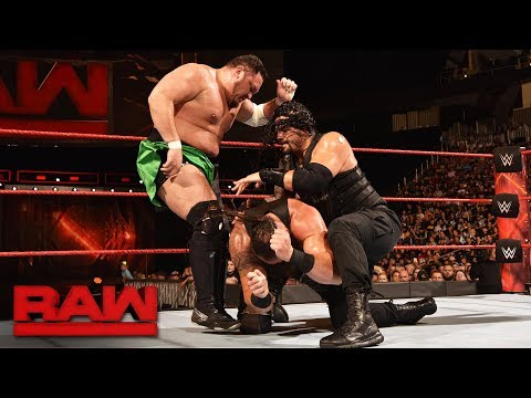Roman Reigns vs. Braun Strowman vs. Samoa Joe - Triple Threat Match: Raw, July 31, 2017
