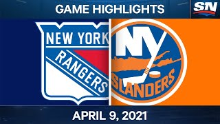 NHL Game Highlights | Rangers vs. Islanders - Apr. 9, 2021