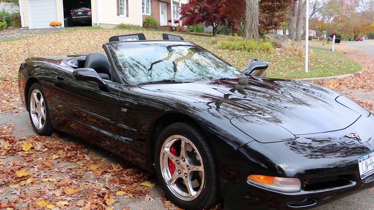 2002 Corvette Convertible For Triple Black 6 Sd Low Miles Mint
