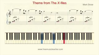 "How To Play Piano: Theme from The X files"" Piano Tutorial by Ramin Yousefi"