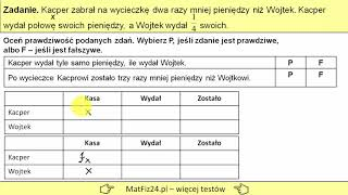 Egzamin gimnazjalny 2019 - Zadanie 5. Równanie matematyczne | MatFiz24.PL