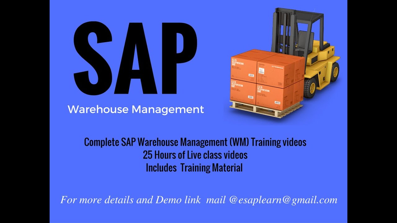 SAP WM Training Video tutorials/ SAP WAREHOUSE MANAGEMENT