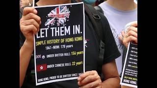 香港民众9月15日到英国驻香港领事馆前请愿