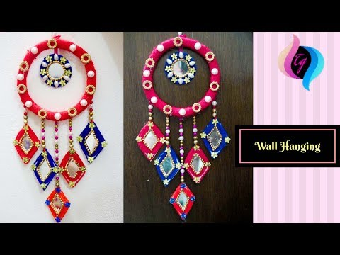 Waste material wall hanging - How to make wall hangings at home - Home decors ideas