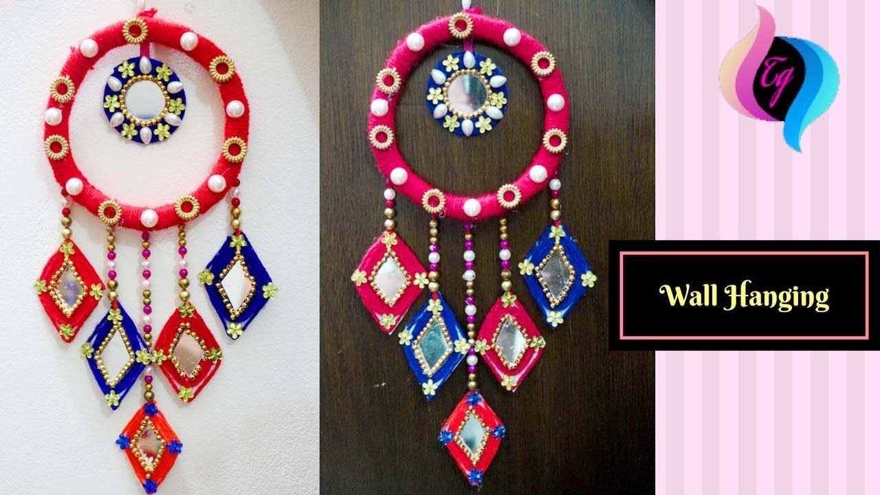 waste material wall hanging how to make wall hangings at home home decors ideas