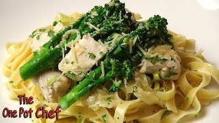 Creamy Chicken And Leek Fettuccine | One Pot Chef