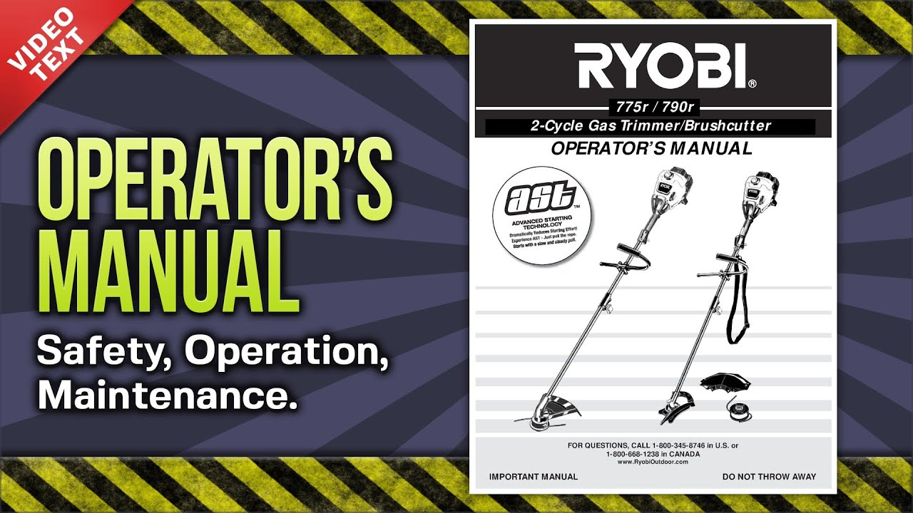 operator s manual ryobi 775r 790r 2 cycle gas trimmer brushcutter rh youtube com ryobi trimmer 775r manual ryobi 775r manual pdf