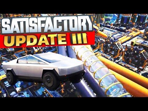 Cyber Truck In Satisfactory Update #3 | Hyper Tubes, Pipes & New Vehicles | Satisfactory Gameplay
