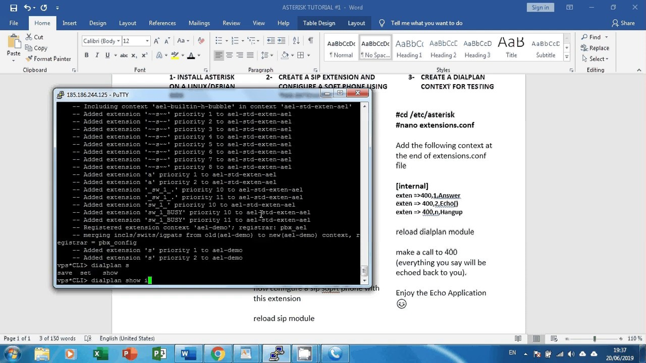 Asterisk install on Debia: initial SETUP and basic STEPS