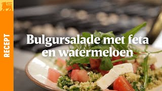 Bulgursalade met feta en watermeloen