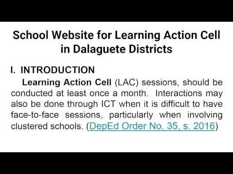School Website for Learning Action Cell in Dalaguete Districts