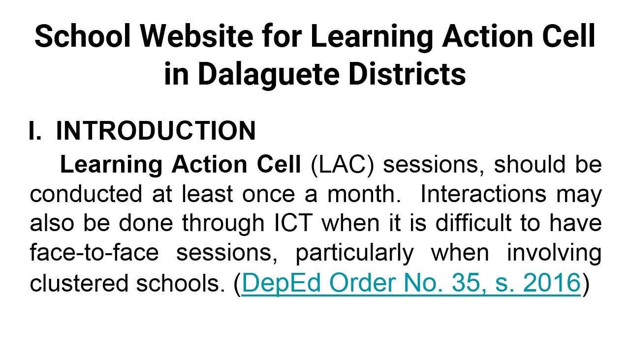 School Website for Learning Action Cell in Dalaguete