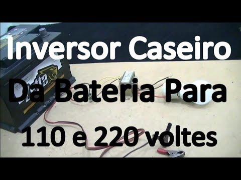Como Fazer Inversor Caseiro De 12 Voltes Da Bateria Que Acende Lâmpadas 127 E 220 Voltes