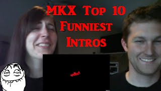 MKX Top 10 Funniest Mirror Match Intros - Reaction!