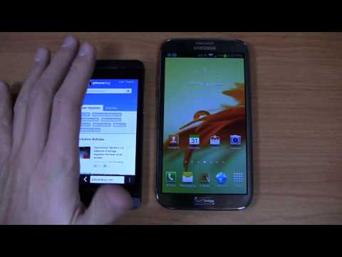 BlackBerry Z10 vs. Samsung Galaxy Note II Dogfight Part 2