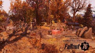 Fallout 76 C.A.M.P Tour - Solo Player Base, Grafton Dam